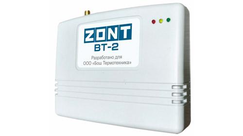 ZONT BT-2 GSM термостат для газовых котлов BOSCH купить, цена, отзывы, характеристики, официальный магазин | Москва, Волоколамское шоссе, 103, тел. +7 (495) 208-00-68
