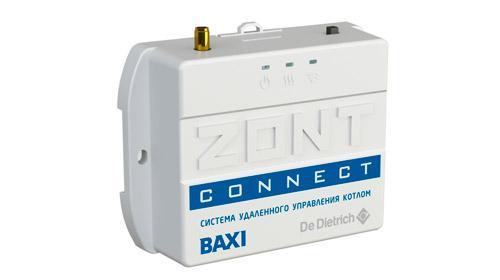 ZONT CONNECT GSM термостат для газовых котлов BAXI и De Dietrich купить, цена, отзывы, характеристики, официальный магазин | Москва, Волоколамское шоссе, 103, тел. +7 (495) 208-00-68